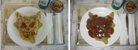 My Dad's Lunch (before and after gravy)