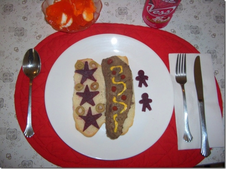 My Dad's Lunch: Liverdog with Beets