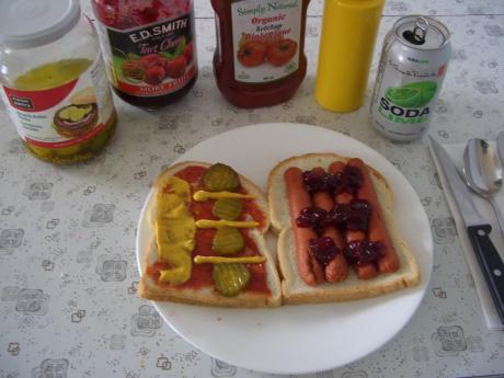 Cherry Jam Hotdog